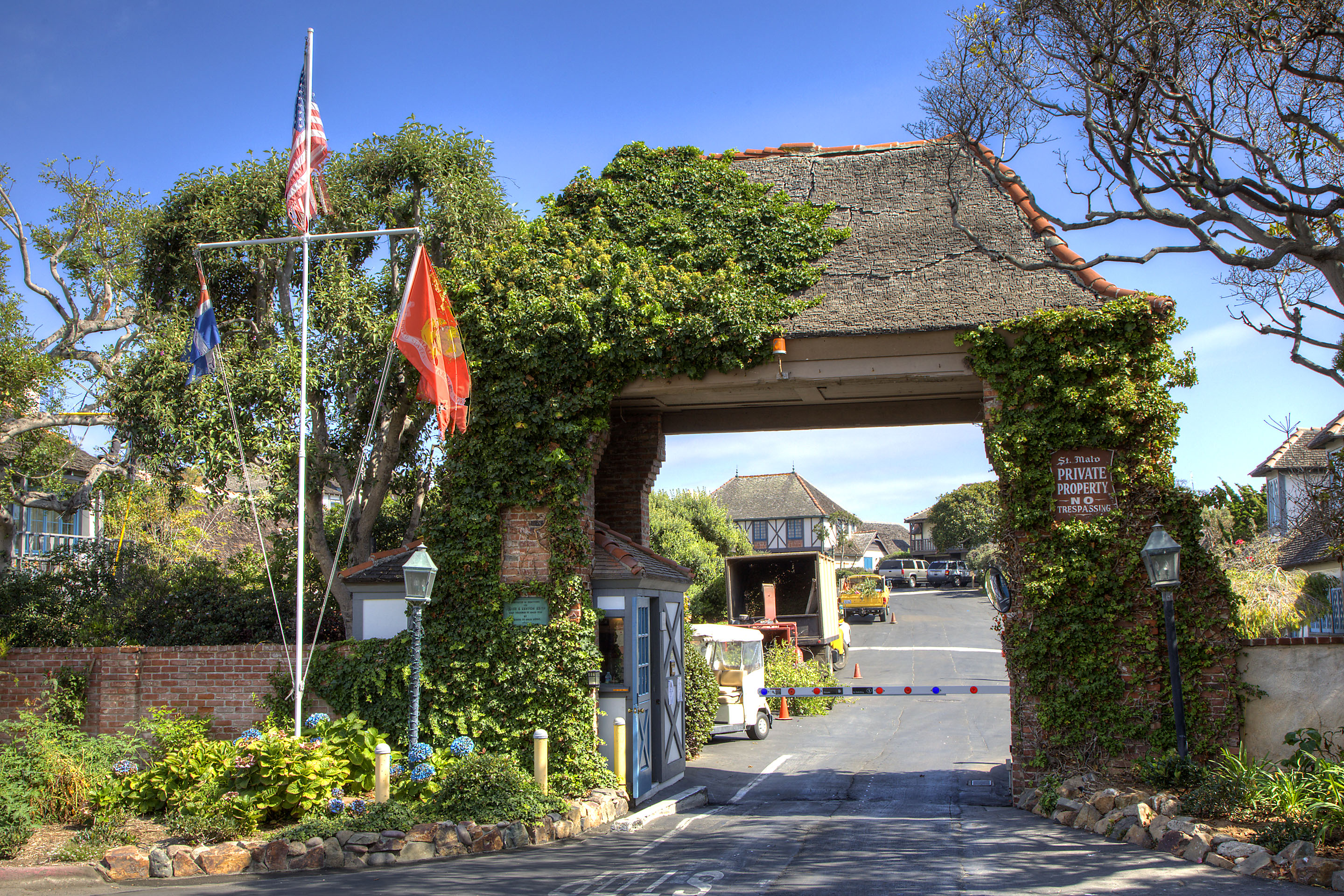 Saint Malo Community Gated Entrance