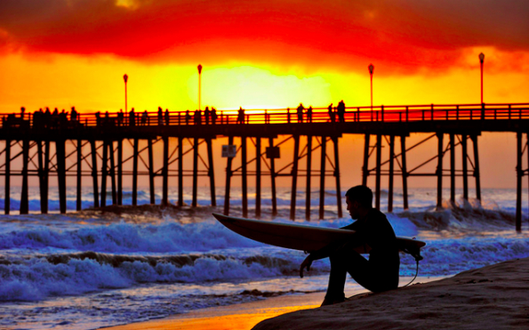Where to Surf in North County San Diego: Oceanside Pier at Sunset