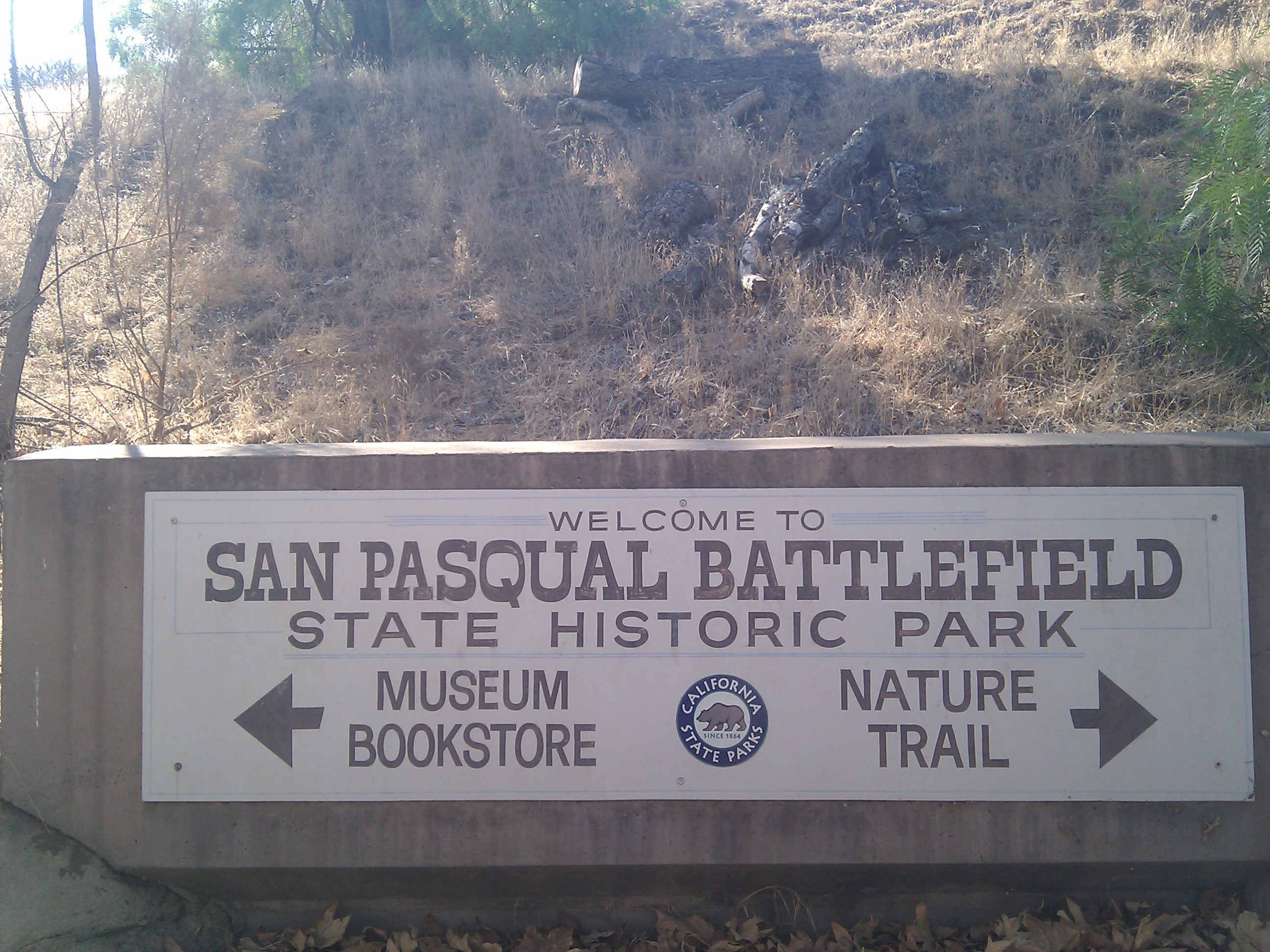 San Pasqual Battlefield State Historic Park Sign