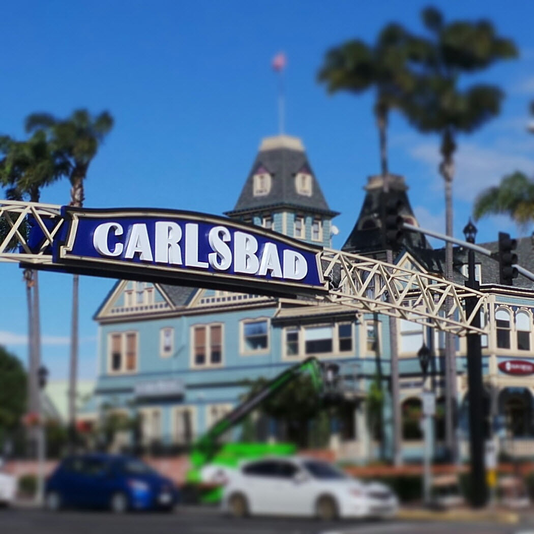 Recreation Of The Historic Carlsbad Sign Installed Ync