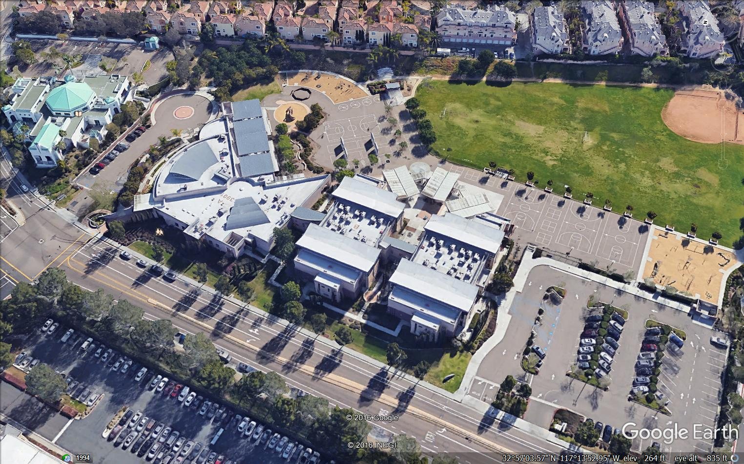 Carmel Valley Middle School and Carmel Valley Library
