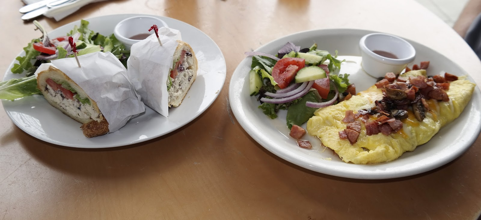 Petite Madeline sandwiches and omelettes