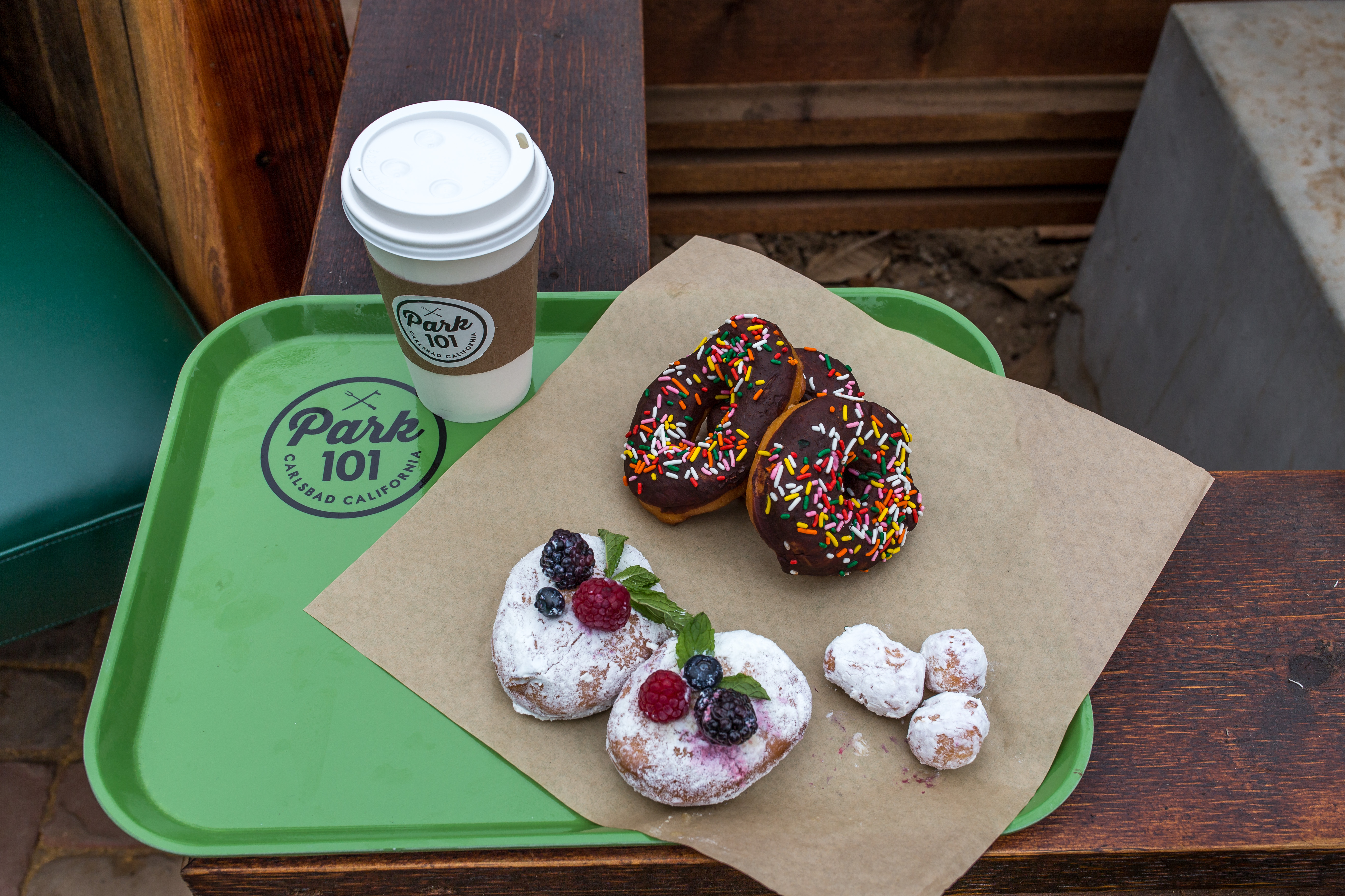 park 101 carlsbad ca donuts coffee